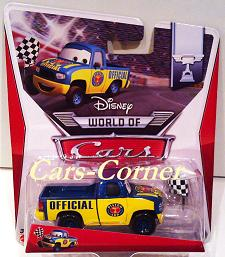 Dexter Hoover with checkered Flagg - World of Cars 2014