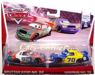 Sputter Stop No. 92 & Gasprin No. 70 - World of Cars 2014