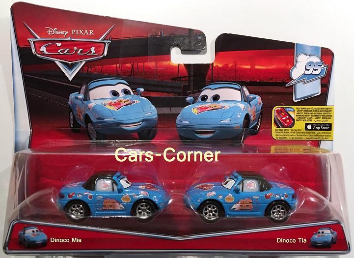 Disney Pixar Cars Dinoco Mia Amp Tia Die Zwillinge Im Dinoco Look Neu Amp Ovp Ebay